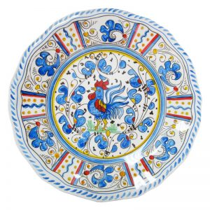 107rb-rooster-blue-dinner-plate