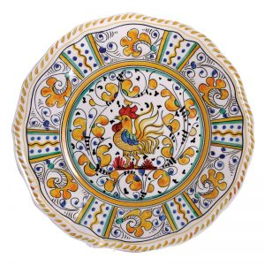 107ry-rooster-yellow-dinner-plate