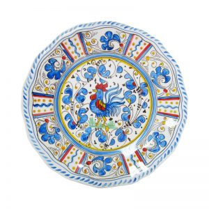 109rb-rooster-blue-salad-plate