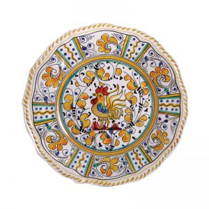 109ry-rooster-yellow-salad-plate