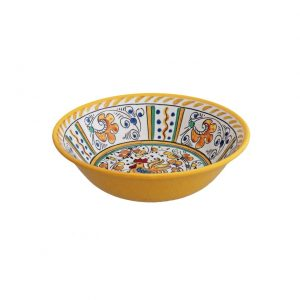 132ry-rooster-yellow-cereal-bowl