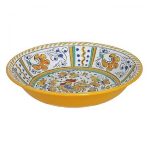 134ry-rooster-yellow-salad-bowl